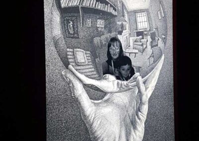 Visitantes en la Exposición Escher