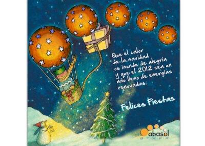 Felicitación de navidad y christmas de empresa personalizado Abasol