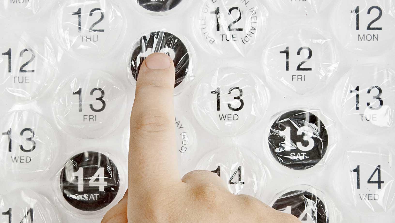 calendarios explotar burbujar dias