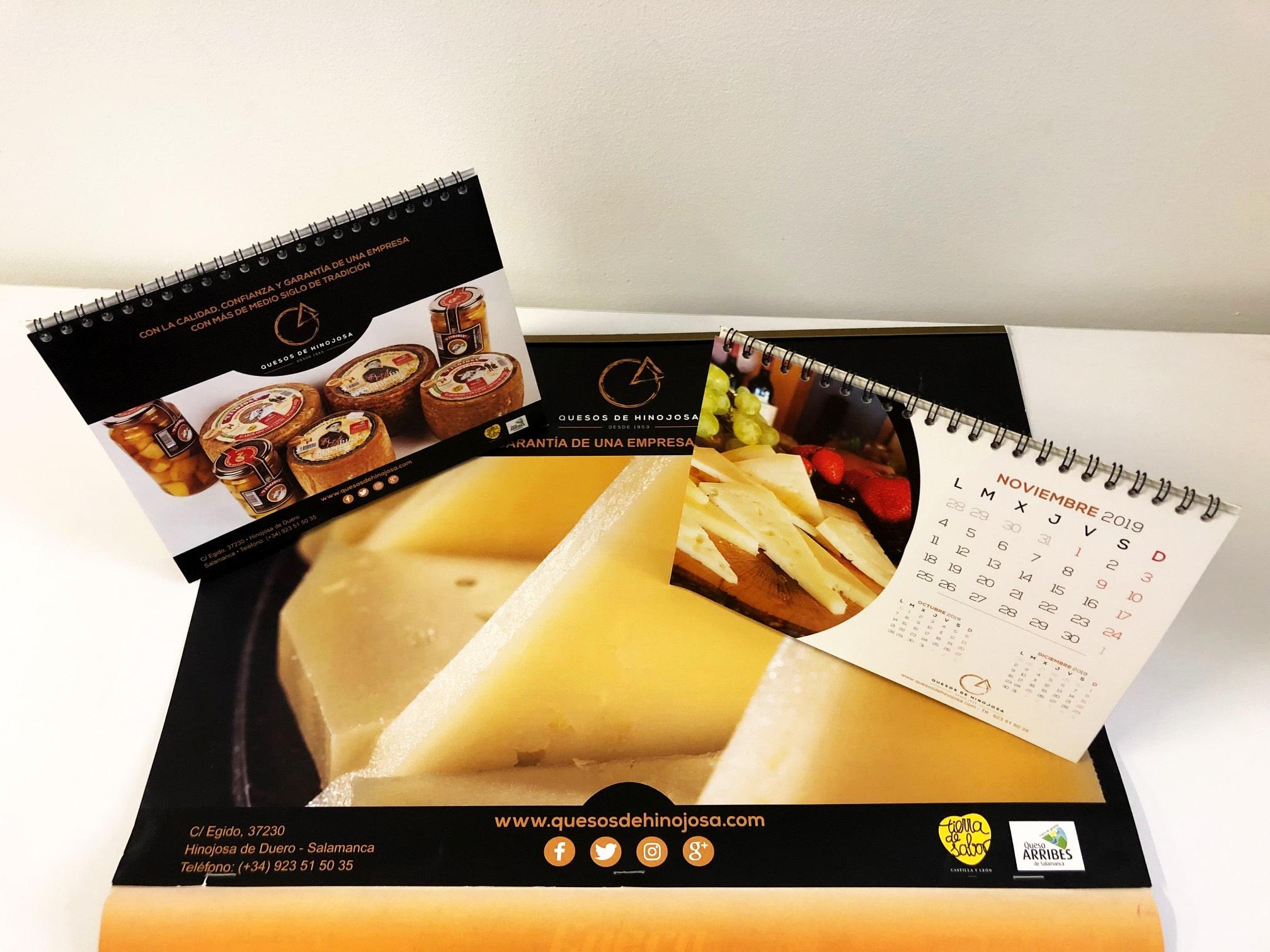 Calendarios quesos de Hinojosa