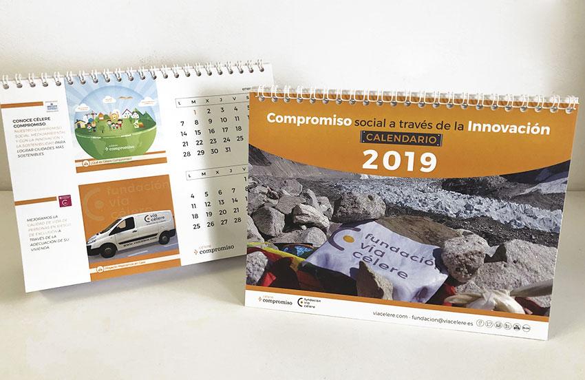 calendarios diseño personalizado A2 colores