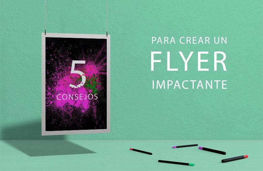 crear un flyer impactante