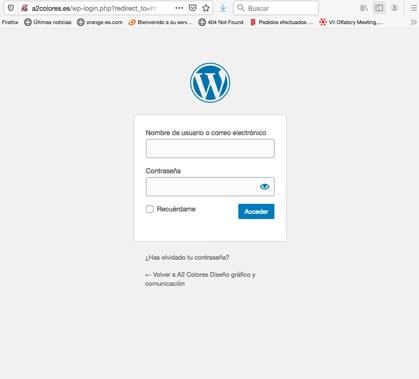 Inicio wordpress web
