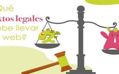 ¿Qué textos legales debe llevar una web de empresa?