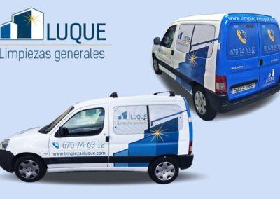 Diseño y rotulación vehículos Limpiezas Luque- Rotulación y vinilado