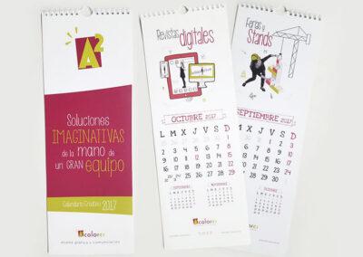 Diseño de calendarios personalizados A2 Colores- Diseños para Navidad