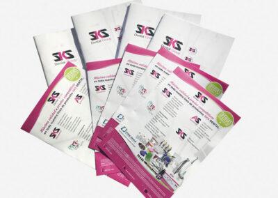 Diseño flyers publicitarios SKS Dental - Diseño editorial
