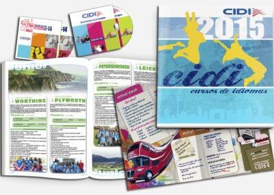 Diseño catálogos y CD idiomas CIDI - Diseño editorial A2 Colores