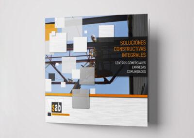Diseño folleto publicitario SAB - Diseño editorial