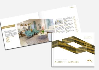 Diseño dípticos residential Altos de Amaniel - Diseño editorial