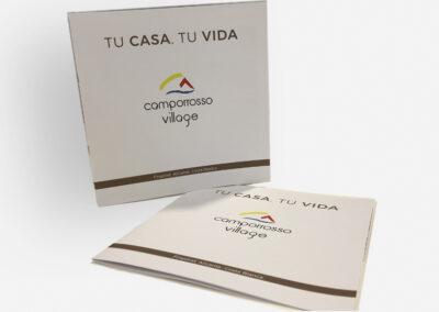 Diseño dípticos Residencial Camporrosso Village - Diseño editoria