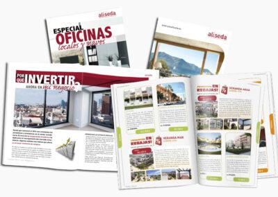 Diseño revistas Aliseda - Diseño Editorial A2 Colores