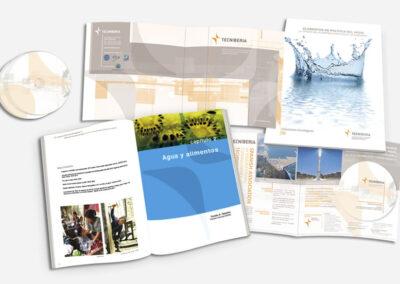 Diseño memoria anual, tríptico, CD y catálogo Tecniberia - Diseño editorial A2 Colores
