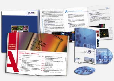 Diseño memorias anuales Centro de Biología Molecular CSIC - Diseño editorial A2 Colores