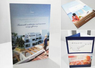 Diseño carpeta tríptico residencial Vigia de Casares - Aliaria - Diseño editorial