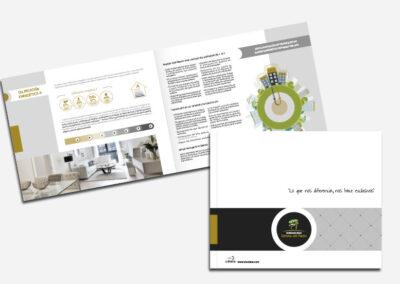 Diseño folleto publicitario residencial Dehesa del Prado - Diseño editorial