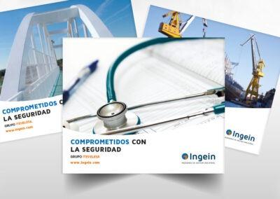 Diseño dípticos Ingein - Diseño editorial