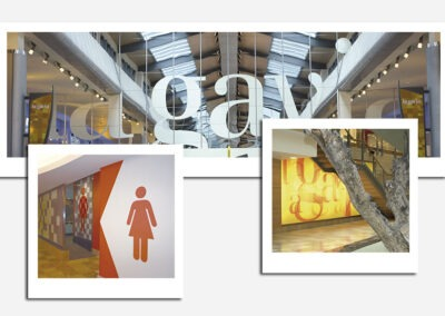 Diseño y producción vinilos decorativos centro comercial La Gavia - Diseño gran formato A2 Colores