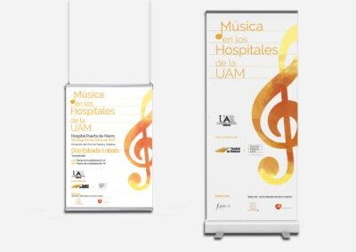 Diseño cartelería para Musica en los Hospitales de la UAM - Diseño gran formato