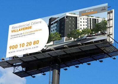 Diseño valla publicitaria para Via Célere - Diseño gran formato