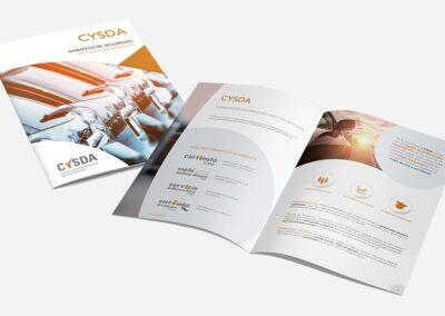 Diseño folleto corporativo Cysda - Diseño editorial