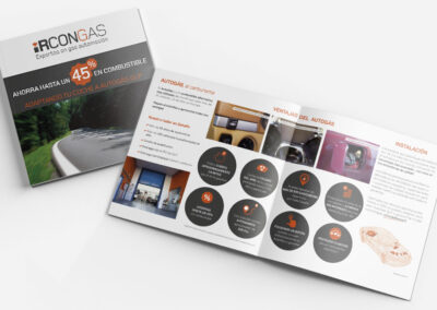 Diseño díptico corporativo Ircongas - Diseño editorial