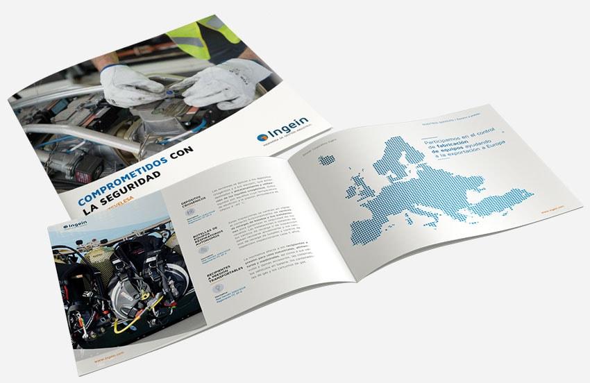 Diseño dossier corporativo Ingein-Itevelesa - Diseño editorial
