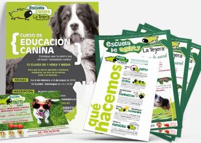 Diseños carteles y flyers Escuela Canina La Tejera - Diseño editorial