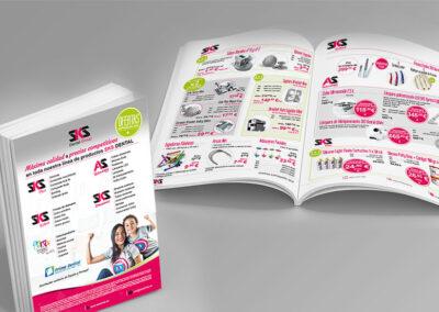 Diseño folleto ofertas SKS Dental - Diseño editorial