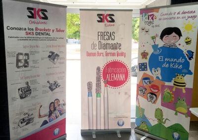 Diseño y producción roll ups corporativos SKS dental - Diseño gran formato