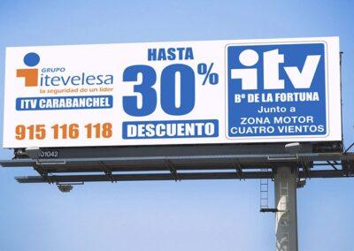 Diseño valla publicitaria para Itevelesa - Diseño gran formato