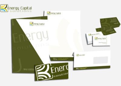 Aplicación imagen corporativa en distintos elementos Energy Capital - Imagen corporativa.