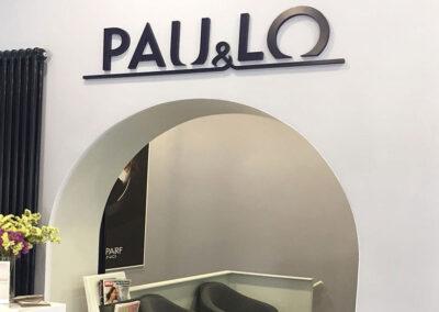Diseño y producción rotulo corpóreo para Paulo peluquerias - Diseño gran formato