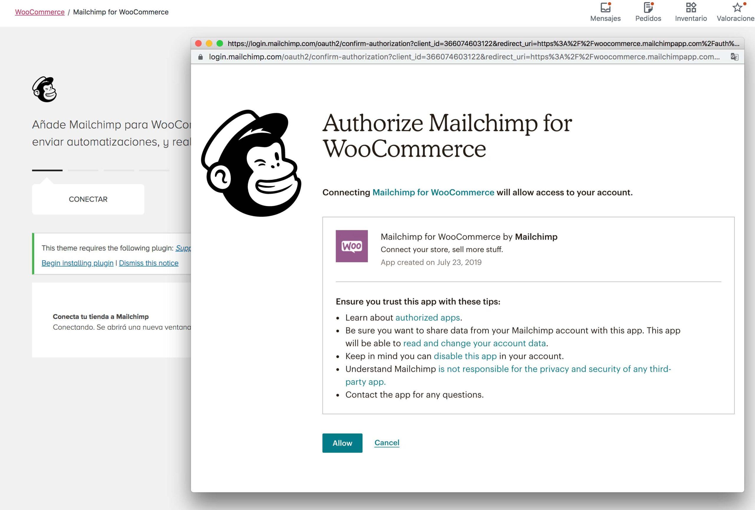 Mailchimp para woocomerce tiendas online