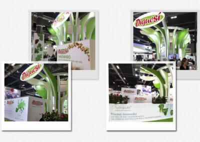 Diseño y decoración stand Línea Verde - Diseño gran formato