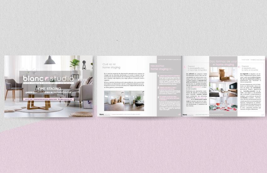 Diseño Dossier Blanco Estudio - Diseño editorial A2 Colores