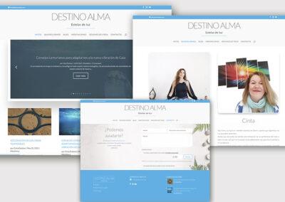 Diseño web de formación y corporativa Destino Alma. A2colores estudio de diseño gráfico en Madrid