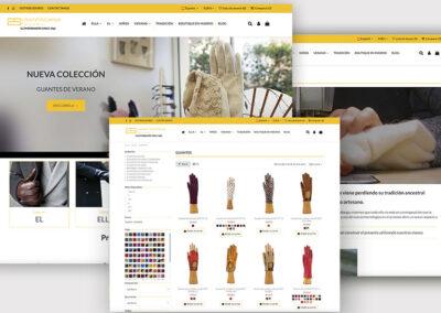Diseño u programación de tienda online Santacana. Realizada por A2colores.