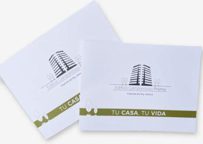 Diseño y Producción catálogos Residencial Camporrosso Prisma. - A2 Colores